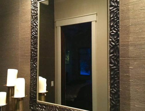Custom entry way mirror