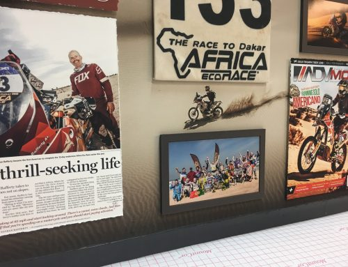 Race to Dakar Africa Shadowbox Closeup