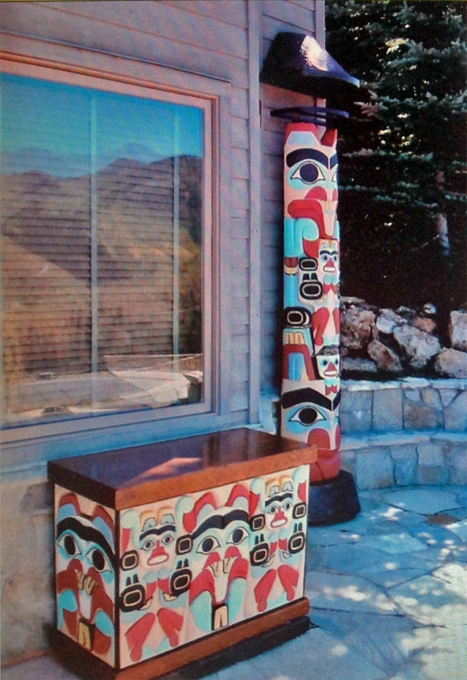 Totem pole restoration and custom bar to go with it after